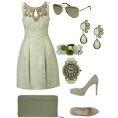 army green dress outfit very chic. Green Dress Outfit, Dress Outfits, Dresses, Hijab Chic, Army Green, Image, Fashion, Gowns, Moda