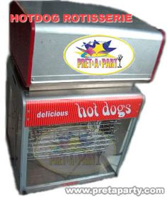 Hot Dog rotisserie rental in Montreal! Party Party, Montreal, Hot Dogs, Party Supplies