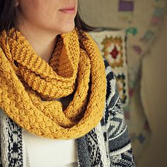 Yellow Brick Cold Cowl by Tracey Galloway