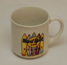 Hard Rock Cafe Sydney Australia Surfboards Coffee Cup/Mug Love Serve All Korea