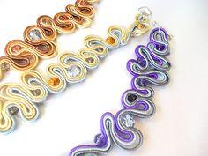 "Delikatne bransoletki sutasz Facebook: ""Soutache, beads, Shibori Cristallin, sutasz i koraliki"""