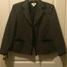 Black And Cream Polka Dot Jacket Final Price!-Sale