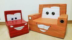 [F] 牛乳パックで作る椅子。作るのは大変そうだけど、アレンジが自由にできて良いと思う。
