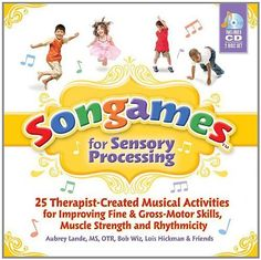 Songames for Sensory Processing: 25 Therapist Created Musical Activities for Improving Fine and Gross Motor Skills, Muscle Strength, and Rhythmicity by Bob Wiz. $18.21. Publication: May 1, 2011. Publisher: Sensory World; New edition edition (May 1, 2011). Save 27%!