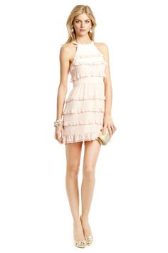 "TIBI ""Cutie Pie Dress"" ... blush pink chiffon. Great look for bridal showers, spring/summer weddings."