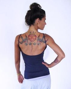 Yoga tank with low back. Yoga top fitness wear door Kayayogawear