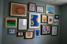 Ways to display your children's art.  You can bet I will do this, somewhere in the house.  :D