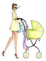 Being a mom doesn't mean no style! Shop ohbabychic.com for chic baby gear