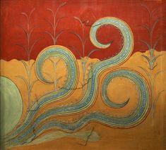 Arte minoico - Friso del Palacio de Knossos