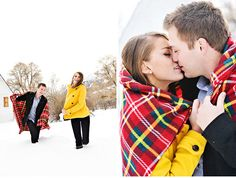 Love of Fair: Snowy, Timeless Engagement Shoot