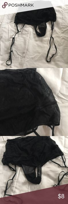 Garter belt retro style Sexy filmy black garter belt/panty Maison Close Intimates & Sleepwear Panties