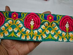 Wholesale Yellow Decorative Embellishments Fabric Trim by 9 yard Embroidered Sari border Indian Embroidery Saree Lace Crafting Sewing You Can Purchase From What's App no. is We also take wholesale enquires. Embroidery Saree, Indian Embroidery, Embroidery Designs, Border Embroidery, Fashion Tape, Diy Fashion, Peacock Pattern, Lace Decor, Fabric Suppliers