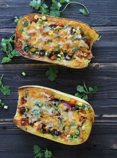 Spaghetti Squash Burrito Bowls   www.makingthymeforhealth.com  #lowcarb #grainfree #glutenfree