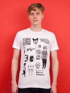 David Hockney t-shirt by Rose Blake