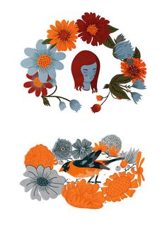 12 x 18 Print  Wreaths by shopfeverfew on Etsy, $15.00