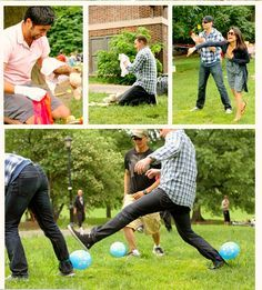 Baby Shower Games for Men - Ideal Baby Shower. Amanda I love this for the dudes to do!! Especially the baby bump and chugging the bottles, ha ha!