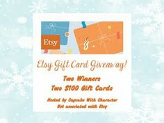 Be 1 of the 2 lucky winners of $100 Etsy Gift Card - International Giveaway