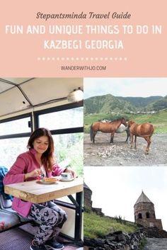 FUN AND UNIQUE THINGS TO DO IN KAZBEGI #Georgia #georgiatravel