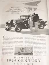 Hupmobile Car Six & Eight 1929 Century Ad Advertisement 1928