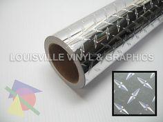 "24"" Wide Silver Diamond Plate -*LVG InterCal*- Sign & Graphic Vinyl Film"