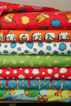 The Lorax Organic Fabric by Dr Seuss  The LORAX in by XOgigi