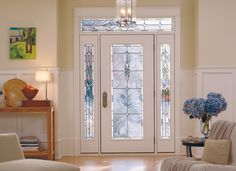 Make your entryway unique with decorative glass, sidelights and more from Pella to accent your front door!