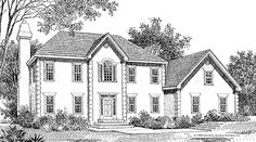 Now Available! The Wellford - Plan 217. This colonial, two-story design features a sprawling master suite on the first floor and the option of a second master upstairs. http://www.dongardner.com/plan_details.aspx?pid=137. #Colonial #TwoStory #Design