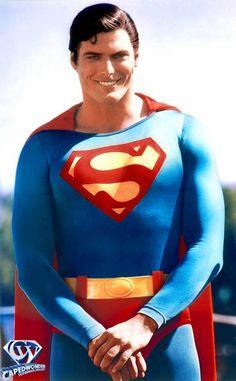 Christopher Reeve as Superman Supergirl Superman, Superman Movies, My Superman, Superhero Movies, Superman Costumes, Batman, Marvel Comics, Marvel Dc, Christopher Reeve Superman