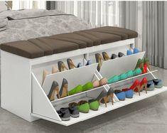 100 DIY shoe storage rack design ideas 2019 – Home Decor DIY Closet Organization Shoe Storage Rack, Diy Shoe Rack, Cupboard Storage, Diy Storage, Shoe Racks, Storage Hacks, Hidden Storage, Small Storage, Cheap Storage