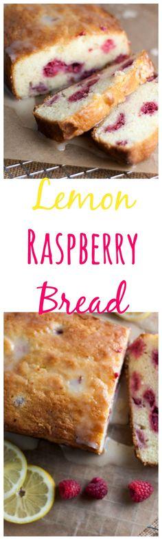 Lemon Raspberry Bread   lemon bread   bread recipes   quick bread   quick bread recipes   lemon recipes   raspberry recipes   raspberry bread   bread  Boston Girl Bakes