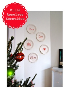 Villa Appelzee: Christmas embroidery on paper plates