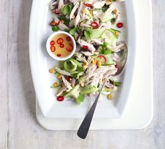 Vietnamese chicken salad  Try this fast, super-low-fat main course salad when you need a health and flavour boost