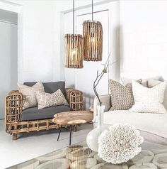 Our living room is going to have simple, comfortable, pieces of furniture coupled with raw, rustic accents to give us our modern tropical living room. Living Room Designs, Living Room Decor, Home Interior, Interior Design, Modern Tropical, Tropical Home Decor, Home And Deco, My New Room, Home Design