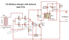 Lead Acid Battery Charger, Battery Charger Circuit, Electronic Engineering, Electronic Circuit, Power Supply Design, Diy Amplifier, Power Supply Circuit, Simple Circuit, Motorcycle Battery