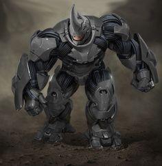 Rhino by kaptaincoca on DeviantArt Marvel Rpg, Marvel Comic Character, Character Art, Epic Characters, Marvel Characters, Iron Man Armor, Marvel Villains, Spiderman Art, Comic Pictures