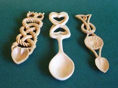 Distinctive hand Carved Love Spoons.