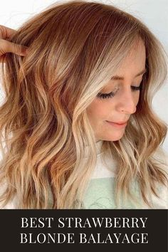 Balyage Hair, Hair Color Balayage, Balayage Hair Blonde, Strawberry Blonde Hair Color, Fall Blonde Hair Color, Hair And Makeup Tips, Hair Color Techniques, Ginger Hair, Fall Hair