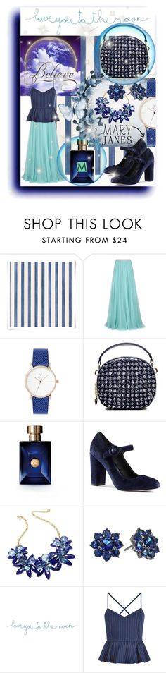 """""""love you to the moon"""" by summer-marin ❤ liked on Polyvore featuring Christian Lacroix, Jenny Packham, Versace, Lands' End, Kate Spade, Nina, Natural Life and New Look"""