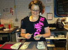 MARISSA counting money.  www.veggiegalaxy.com