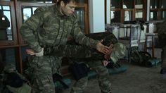 Söz dizisi oyuncuları askeri eğitim aldılar