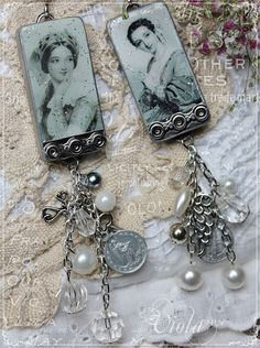 shabbychickinspired.blogspot.nl, altered art, altered domino, charm, stamping, stempelen