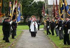 Guard of honour: The funeral of Dick Norris at All Saints Parish Church in Driffield, East...