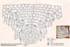 Teje Lupita crochet added a new photo. Filet Crochet, Crochet Diagram, Crochet Round, Crochet Chart, Crochet Home, Thread Crochet, Crochet Stitches, Point Granny Au Crochet, Crochet Squares