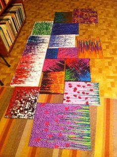 Items similar to Custom Order Wax Art on Etsy Crayon Crafts, Canvas Crafts, Canvas Art, Crayola Art, Melting Crayons, Wax Crayons, Wax Art, Diy Arts And Crafts, Art Club