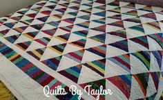 Rainbow Quilt  Made To Order King Quilt by QuiltsByTaylorDesign