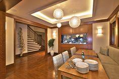 Aquarium - Westlake Residence - contemporary - living room - austin - Cornerstone Architects