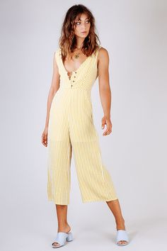 High Rise Button Up Jumpsuit - Verge Girl