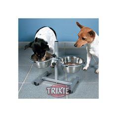 Trixie Soporte metal para 2 Comederos