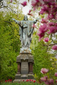 Sacred Heart of Jesus statue at the University of Notre Dame