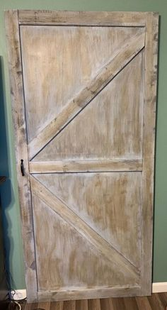 I had an idea for a simple barn door and wanted to see if I could build it myself.Measure and frame Porch Doors, Shed Doors, Barn Doors, Building A Barn Door, Diy Barn Door, Diy Planter Box, Diy Planters, Faux Marble Countertop, Vintage China Cabinets